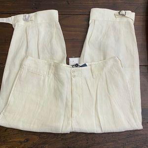 Ralph Lauren Blue Label Linen Cropped Pants